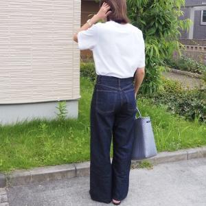 念願のグレーをGET!Tシャツ×デニムでもお洒落っぽく見えるメルカドバッグ♩