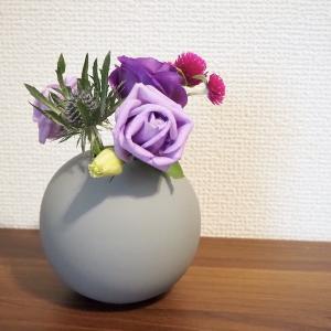 パープルグラデが可愛かった♡お花の定期便Bloomee LIFE