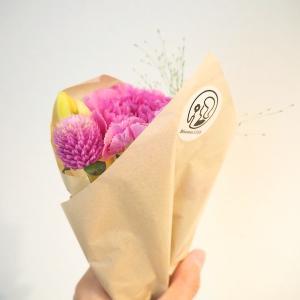 今回は<イエロー×ピンク>でHAPPYカラーだった♡お花の定期便BloomeeLIFE