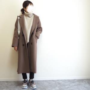 ニット×コートがやっぱ可愛い…♡地味コーデにお洒落に映えるブラウンコート