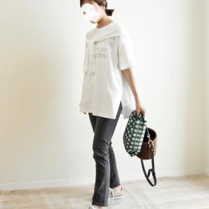 細めのデニムにも合わせやすい!パッと着るだけで可愛い大人ロゴT♡UNIQLO購入品
