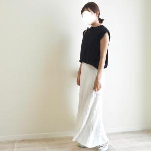 ひゃー可愛い♡♡♡カジュアルなコーデにも意外と使えたMyuさんの透かし編みスカート