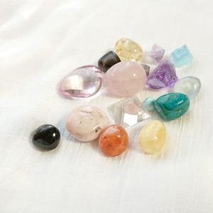 満月浴で天然石もごきげんです!