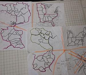 地図を描いた。