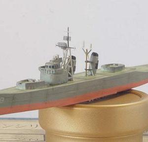 1/700海上自衛隊護衛艦「ゆうだち」製作 (前後マスト製作)
