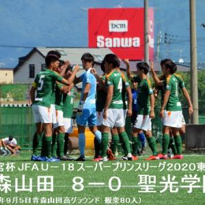 スーパープリンスリーグ東北第2節 青森山田VS聖光学院