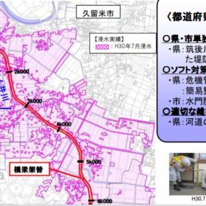 令和元年8月九州北部豪雨 川の堤防のかさ上げが決まったらしい