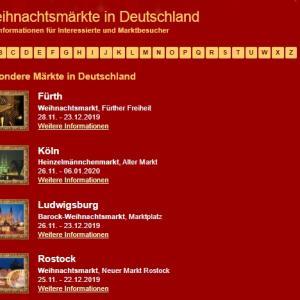 2019年 ドイツクリスマス市カレンダー