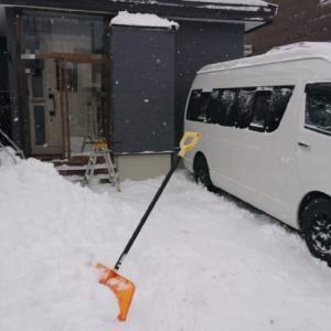 旭川は大雪です。Happyと雪はねしました。