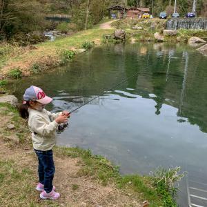 2020年 4月19日『七瀬川ルアー池 』うらら虹鱒を釣る(^O^)/