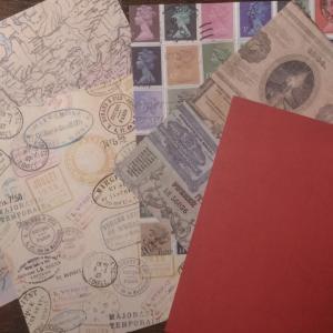 セリアの折り紙で封筒作ったよ