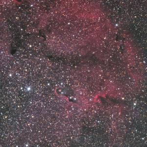 ガーネットスター星雲の象の鼻付近
