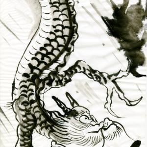 開運龍神画~「手を抜くのが人間の性(さが) 」