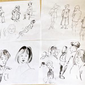 今日の献上画~2種類の描き方