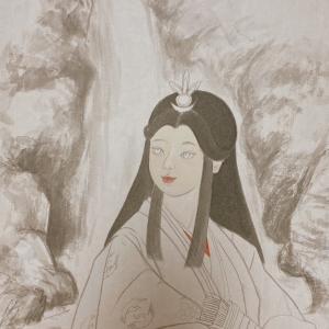 セオリツ姫も描き始めました。