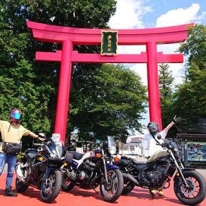 210731ラン3キロとバイク神社参拝♪