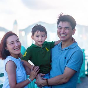 香港の思い出に、雑誌VERYから抜けでてきたような本帰国前のご家族の撮影をしました