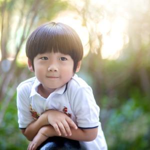 将来は田中圭さん似のイケメン間違いなし!4歳のかわいい男の子ファミリーを撮影しました