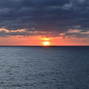 Allyson Felix & Sunflower 船上からの朝日