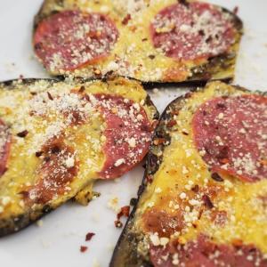 ♡keto eggplant pizza♡