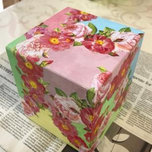 デコパージュ 自宅教室:色分けのボックス