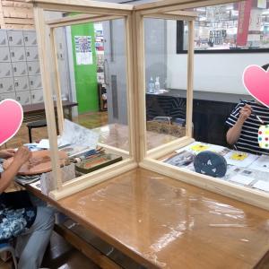 デコパージュ教室:タイルに貼る・ぞうがんの技法