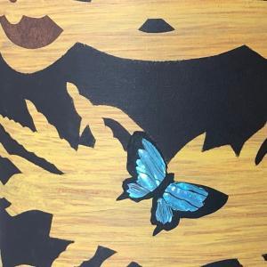 ぞうがんの技法:蝶の色を変える