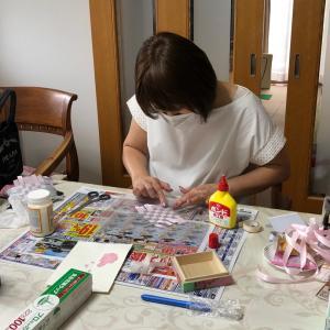 自宅教室です:箱の中の編み込み
