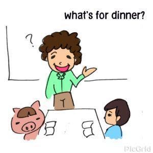 英語教室 What's for dinner tonight?