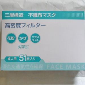 即納のマスクが届きました