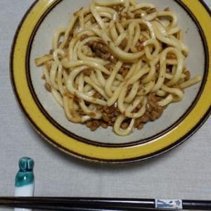 納豆焼きうどん、試してみました