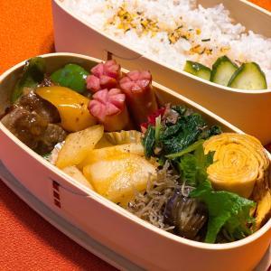 今日のお弁当 あ…地味弁に&残り物でパスタを〜☆