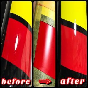 LOOKカーボンフォーク傷補修塗装