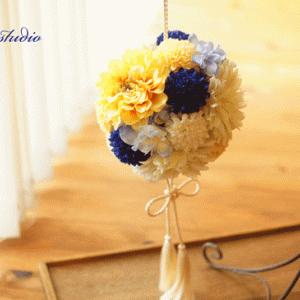 神奈川県の花嫁様よりボールブーケのご注文をいただきました。