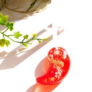 決断力・行動力を高める【赤色勾玉オルゴナイト(桜)】