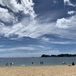 熊野古道からの海水浴