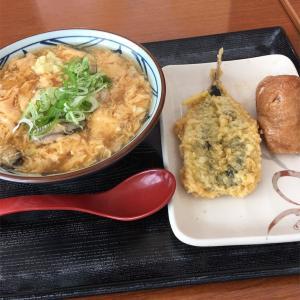 牡蠣づくし玉子あんかけ@丸亀製麺 イオン苗穂店