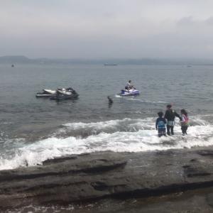 館山 沖ノ島 ジェットスキー遊び