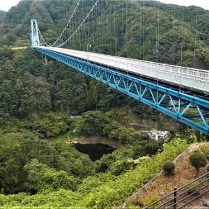 大つり橋は爽やかでした。