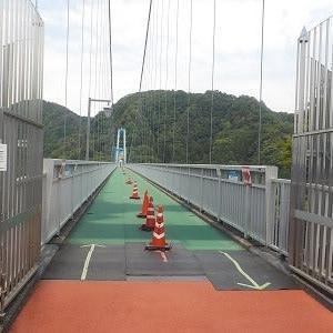 大つり橋は気持ちいいです。