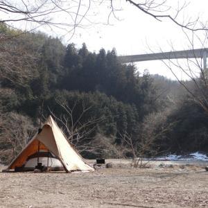 2月父子キャン!新戸キャンプ場