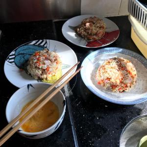 朝ごはんはオムライス 猫ちゃん 夕ご飯は大根と手羽の煮物
