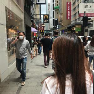今日の昼ごはんはマクドナルド 空気が澄んでる香港 走ってサムスイポまでパソコンを取りに