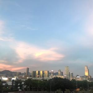 今日の夕空はとても綺麗