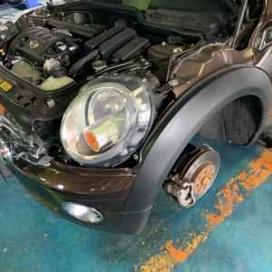 R56 BMW  MINI 低ダストブレーキパットへ交換!