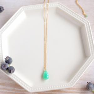 ◇新作---色石の一粒ネックレスたち