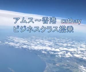 アムステルダム~香港 キャセイパシフィックビジネスクラス搭乗 ラトビアへ飛ぶ その10
