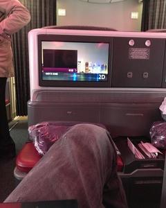 めちゃ旨いスモークサーモン! カタール航空ビジネスクラス ミュンヘン~ドーハ クロアチアザグレブへの旅 その9