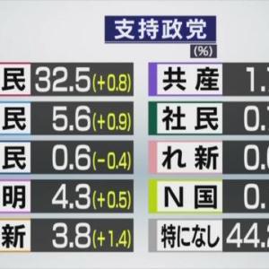 『内閣支持率』河井元法相夫婦らの逮捕と今月の内閣支持率ってなーに?