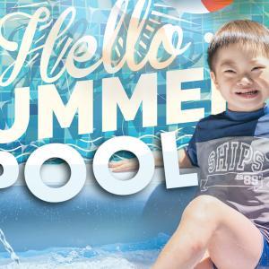 プールに喜怒哀楽!夏やっと本格化 息子の最高の笑顔に癒される